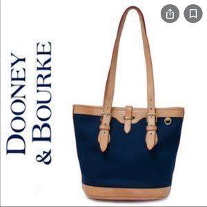 Dooney & Bourke vintage blue Cabriolet bucket bag